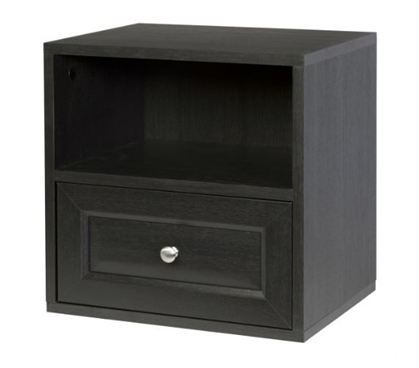 Storage Cube with Drawer - Espresso Dorm Necessities