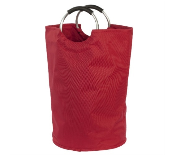 heavy duty dorm laundry bag - red