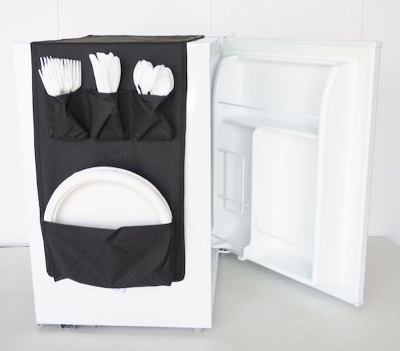 Cookin Caddy Over The Fridge Storage Organizer Dorm Room