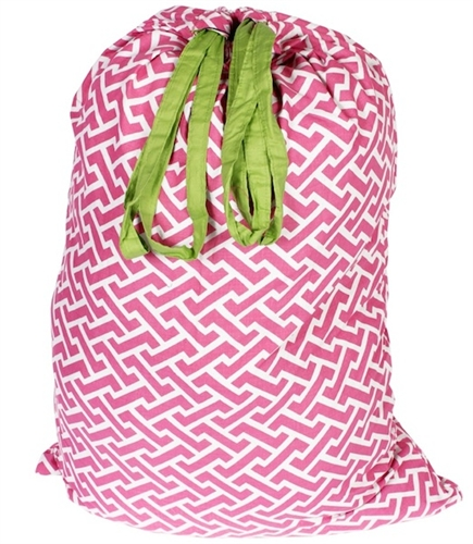 Cute Laundry Bags molly pink/lime - college laundry bag dorm shopping essentials