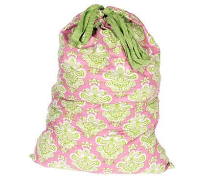 Looks Great Too - Istanbul Pink/Lime - College Laundry Bag - Laundry Supplies Essential