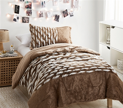 Tiger Lion - Coma Inducer Twin XL Comforter - Chestnut Brown