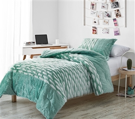 Tiger Lion - Coma Inducer Twin XL Comforter - Ocean Green