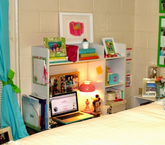 Classic Dorm Desk Bookshelf Organizer Storage College
