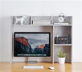 Essential College Furniture Classic Dorm Desk Bookshelf Marble Gray Useful Dorm Room Supplies