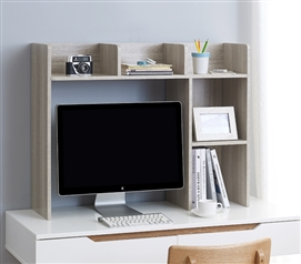 Classic Dorm Desk Bookshelf - Natural