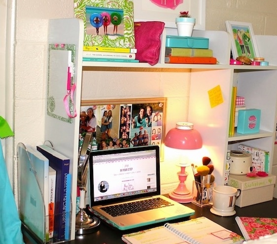 Perfect Classic Dorm Desk Bookshelf   White Part 11