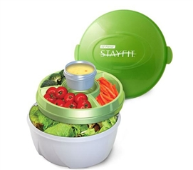 A Dorm Room Essential for Healthy Living - Deluxe Salad Container Set
