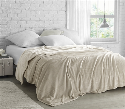 Coma Inducer - Twin XL Bedding Blanket - Almond Milk