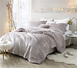 Coma Inducer Twin XL Comforter - Velvet Crush - Champagne Pink