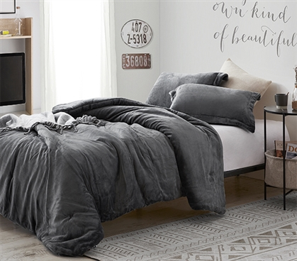 Coma Inducer Twin XL Comforter - The Original Plush - Steel Gray