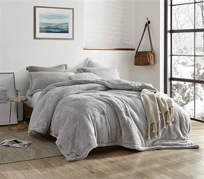 Coma Inducer Twin XL Comforter - The Original Plush - Silver Stone