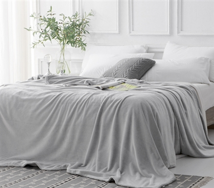 Coma Inducer Frosted Twin Xl Bedding Blanket Granite Gray
