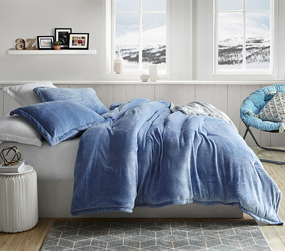 Coma Inducer Twin XL Comforter   Frosted   Pacific Blue