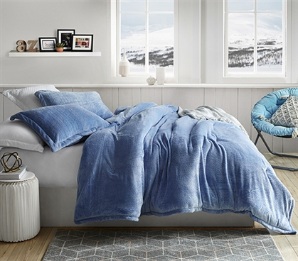 Coma Inducer Twin XL Comforter - Frosted - Pacific Blue