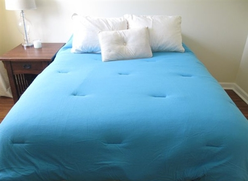 Captivating Jersey Knit Twin XL College Comforter (100% Cotton)   Aqua