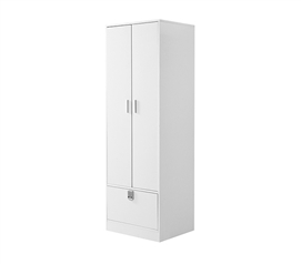 Yak About It Locking Safe Wardrobe Closet - White