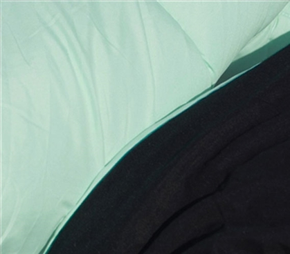 Twin XL Calm Mint/Black Reversible College Comforter