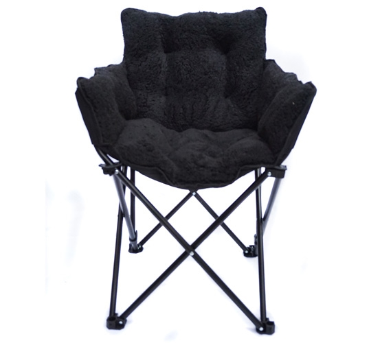 Elegant College Cushion Chair   Ultra Plush Black