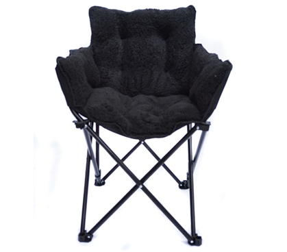 College Cushion Chair - Ultra Plush Black Dorm Essentials Dorm Necessities College Furniture