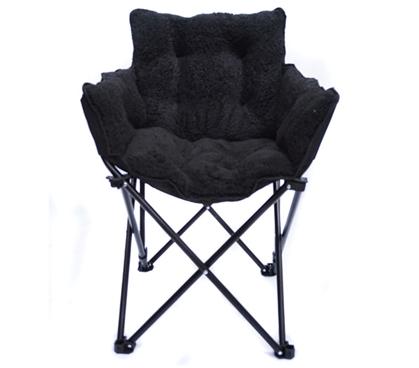 College Cushion Chair Ultra Plush Black