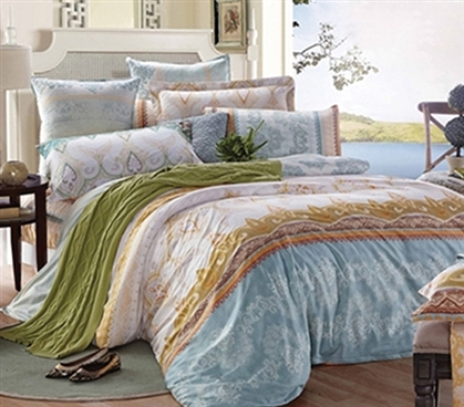 Tropica Twin XL Dorm Bedding Set - College Ave Designer Series - Stylish Dorm Bedding