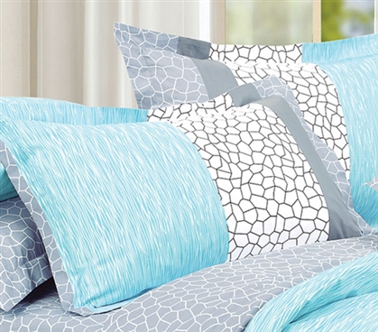 Dove Aqua Sham Dorm Essentials Dorm Necessities Dorm Bedding