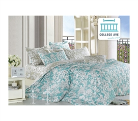 Great Comforters And Sham - Ashen Teal Twin XL Comforter Set - College Ave Designer Series - College Bedding For Girls