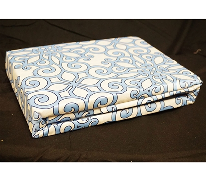 Crystalline Blue Twin XL Sheet Set - College Ave Designer Series