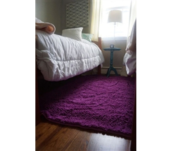 Chenille Area Rug 4 X 6 Radiant Orchid Cheap Dorm Rugs For Girls