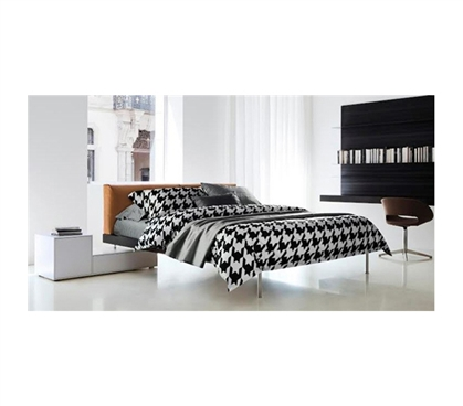 Houndstooth Black And White Cotton Twin Xl Comforter