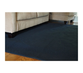 Decorative Dorm Room Rugs - UltraSoft Lamb Rug - Black