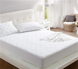 100% Cotton Fill - All Around Cotton Full Mattress Pad
