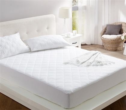 100% Cotton Fill - All Around Cotton Full XL Mattress Pad