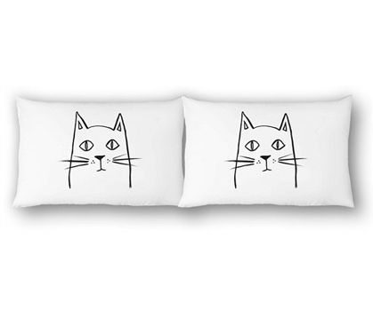 College Pillowcases - Painted Cat (2-Pack)