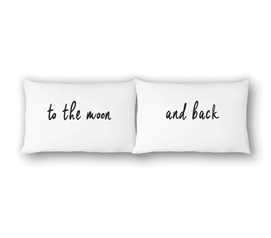 College Pillowcases - To The Moon And Back (2-Pack) Dorm Essentials Dorm Room Decor Twin XL Bedding