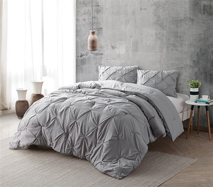 Alloy Pin Tuck Full Comforter - Oversized Full XL Bedding