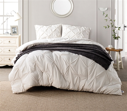 Jet Stream Pin Tuck Twin XL Comforter Dorm Bedding Dorm Room Decor