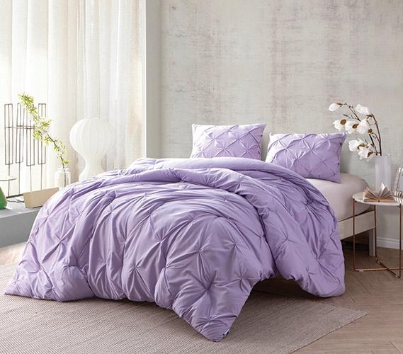 Orchid Petal Pin Tuck Twin Xl Comforter