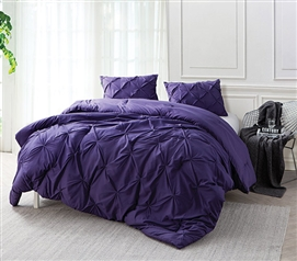 Purple Reign Pin Tuck Twin XL Comforter Twin XL Bedding Dorm Room Decorations Dorm Essentials