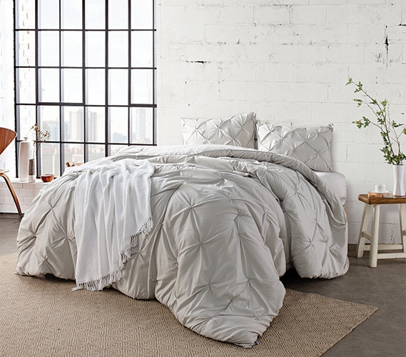 Charmant Silver Birch Pin Tuck Twin XL Comforter