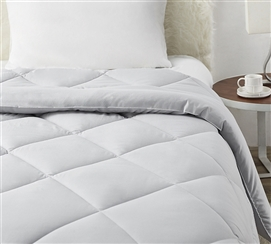 Solid Glacier Gray Full Comforter - Oversized Full XL