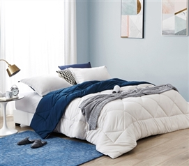 Jet Stream/Nightfall Navy Full Comforter - Oversized Full XL Bedding