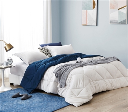 Jet Stream Nightfall Navy Full Comforter Oversized Full Xl Bedding