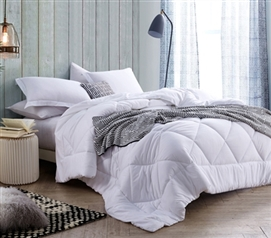 Solid White Full Comforter - Oversized Full XL Bedding