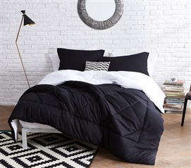 Black/White Reversible Twin XL Comforter Dorm Bedding Dorm Room Decor