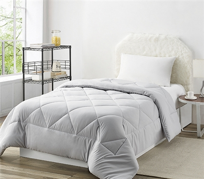 Neutral Dorm Decor Ideas Simple Comforters Twin XL Bedding Essentials for College Student Must Haves