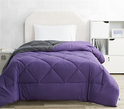 Purple Reign/Faded Black Reversible Twin XL Comforter