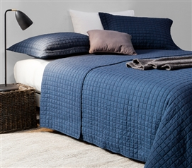 Classic Supersoft Quilt - Pre-Washed with Cotton Fill - Nightfall Navy - Twin XL