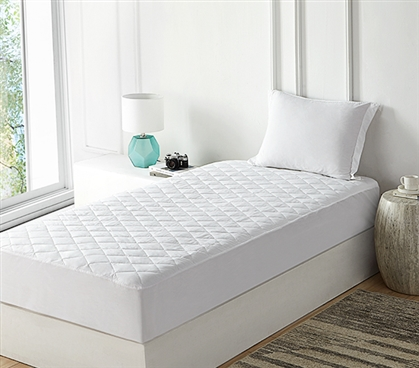 Cotton-Top Waterproof Mattress Pad with Skirt - Twin XL